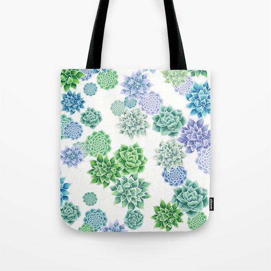 Floral succulent pattern Tote Bag