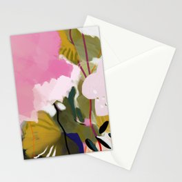 abstract jungle leaves Stationery Cards