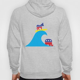 Democratic Donkey Riding Midterm Eection Blue Wave Hoody