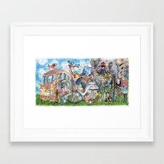 Ghibli Compilation Framed Art Print