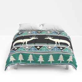 Christmas pattern with deer Comforters