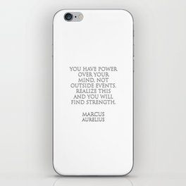 You have power over your mind iPhone Skin