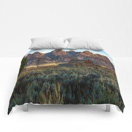 Wyoming - Moulton Barn and Grand Tetons Comforters