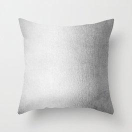 Moonlight Silver Throw Pillow