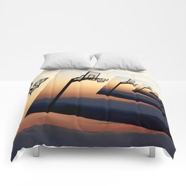 Basketball Hoop Silhouette Comforters