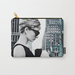 """Photo Montage """"Audrey in The City"""" Carry-All Pouch"""
