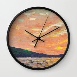 Tom Thomson - Smoke Lake - Canada, Canadian Oil Painting - Group of Seven Wall Clock