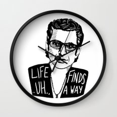 Life .. uh .. Finds a Way Wall Clock