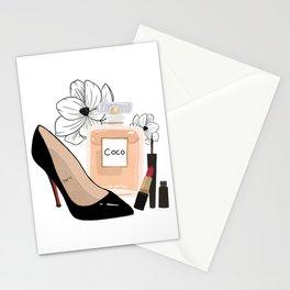 Woman Fashion Watercolour Art Stationery Cards