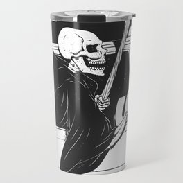 Passenger taxi grim - black and white - gothic reaper Travel Mug