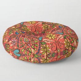aziza fire Floor Pillow