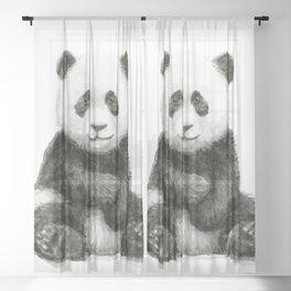 Panda Baby Watercolor Sheer Curtain