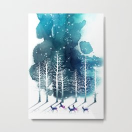 Winter Night 2 Metal Print