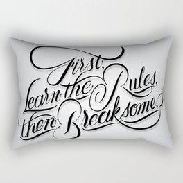 Break Some Rules Rectangular Pillow