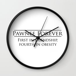 Parks and Recreation - Pawnee Forever Wall Clock