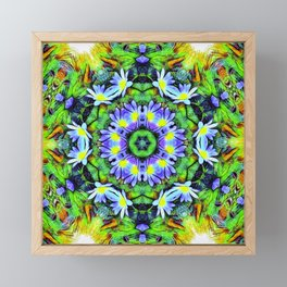 Floral Display In Abstract Framed Mini Art Print