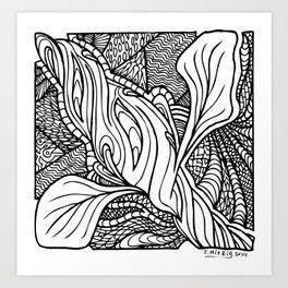 Ice Cream Bloom Art Print