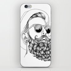 beard & sunglasses iPhone & iPod Skin