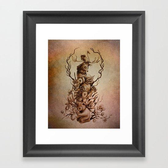 Cute Totem Framed Art Print