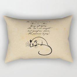 To a Mouse - Robert Burns - Mice and Men Rectangular Pillow