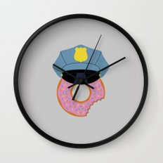 Officer Donut Wall Clock