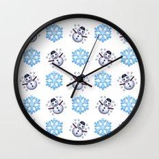 C1.3D Snowmoji Wall Clock