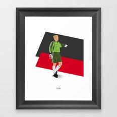 Peter Schmeichel - Manchester United goalkeeper  Framed Art Print
