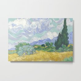 Vincent van Gogh - Wheat Field With Cypresses Metal Print