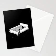 Bed for crying Stationery Cards