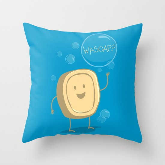 Wasoap? Throw Pillow