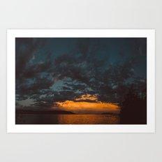 Opposite Sunset Art Print
