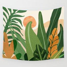 Desert Garden Sunset Wall Tapestry