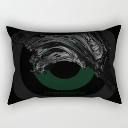 Green Smile Rectangular Pillow