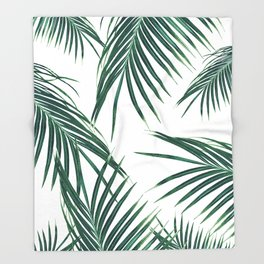 Green Palm Leaves Dream #2 #tropical #decor #art #society6 Throw Blanket