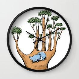 Cute Koala in a Tree Hand Wall Clock