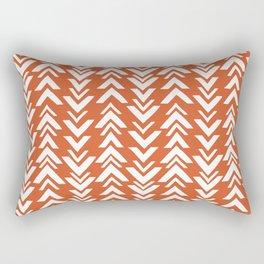 Burnt Orange Tribal Arrow Print Rectangular Pillow