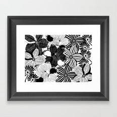 Flowers black & white serie 2 Framed Art Print