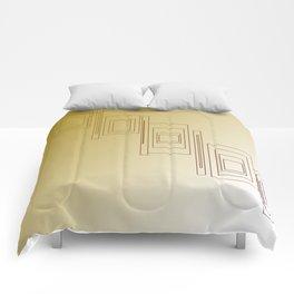 Design blocks, Gold elements Comforters