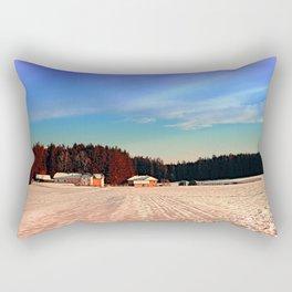 Amazing vivid winter wonderland | landscape photography Rectangular Pillow