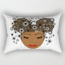 African American Flower Goddess Rectangular Pillow