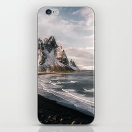 Stokksnes Icelandic Mountain Beach Sunset - Landscape Photography iPhone Skin