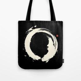 Black Enso / Japanese Zen Circle Tote Bag