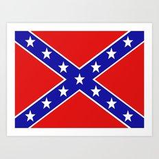 Confederate flag Art Print