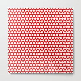 Polka / Dots - Red / White - Large Metal Print