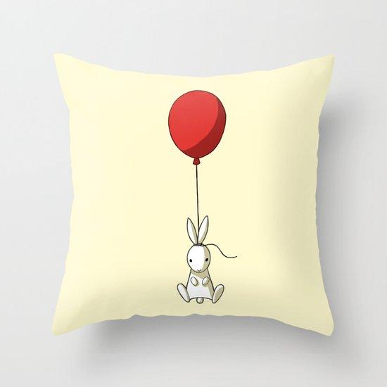 Balloon Bunny Throw Pillow