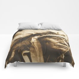 Chief Running Antelope - Native American Sioux Leader Comforters