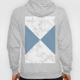 diagonal tiles marble blue pattern Hoody