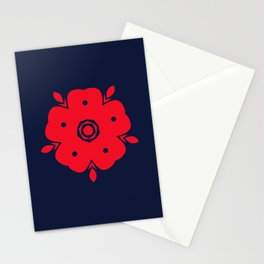 Japanese Samurai flower red pattern Stationery Cards