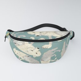 Totem Artic Wolf Turquoise Fanny Pack