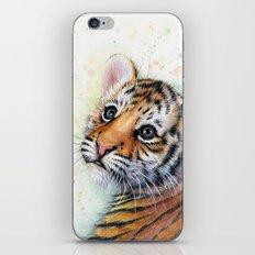 Tiger Cub Watercolor Cute Baby Animals iPhone & iPod Skin
